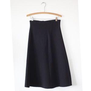 Zara Charcoal Midi Skirt XS